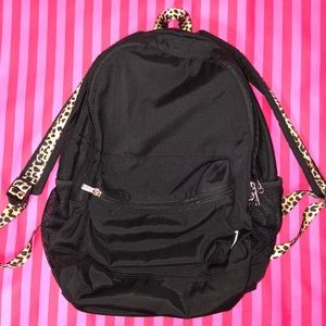 Victoria's Secret PINK black leopard backpack
